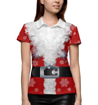 Женское Поло Дед мороз