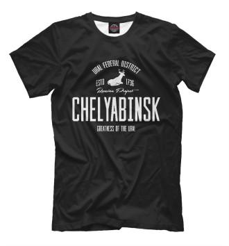 Мужская Футболка Челябинск Iron
