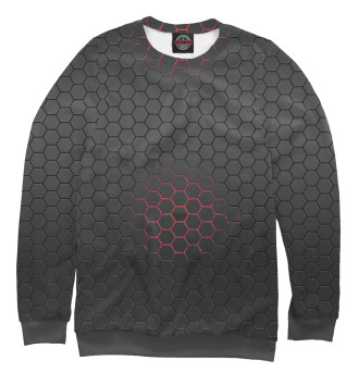 Мужской Свитшот Red Honeycomb