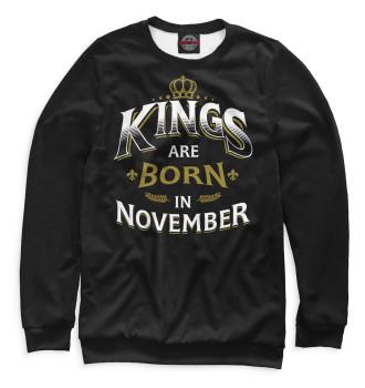 Мужской Свитшот Короли рождаются в ноябре