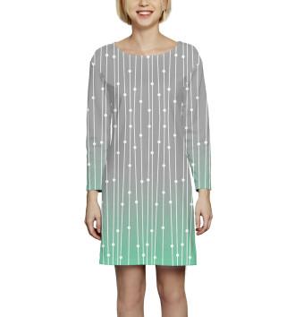 Женское Платье с рукавом Абстракция