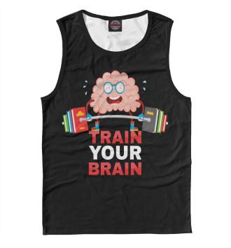 Мужская Майка Train your brain