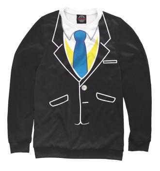 Мужской Свитшот Смокинг с галстуком
