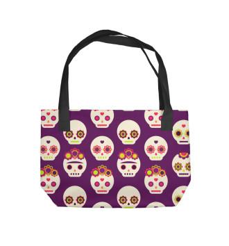 Пляжная сумка Мексиканские черепа