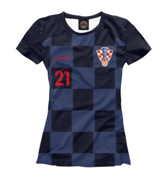Женская Футболка Домагой Вида - Сборная Хорватии