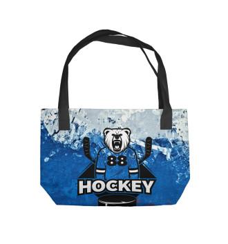 Пляжная сумка Русский хоккеист