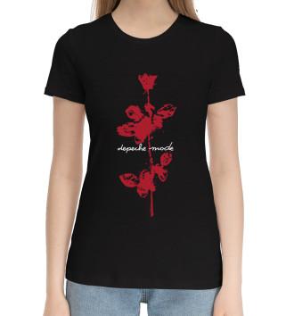 Женская Хлопковая футболка Depeche Mode