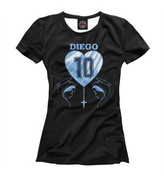 Женская Футболка Diego Maradona