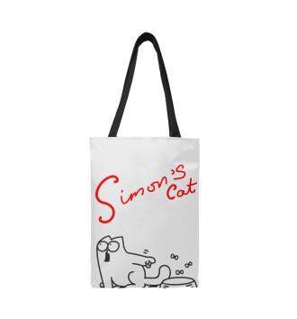 Сумка-шоппер Кот Саймона хочет кушать