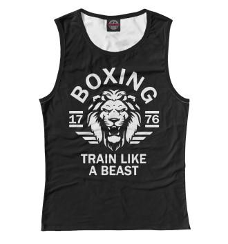 Женская Майка Бокс - тренируйся как зверь