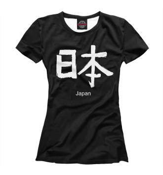 Женская Футболка sign Japan