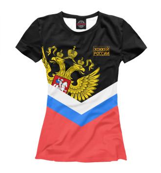 Женская Футболка Хоккей России