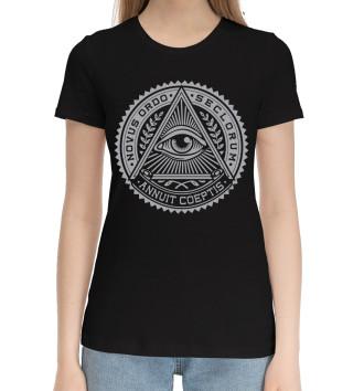 Женская Хлопковая футболка Illuminati