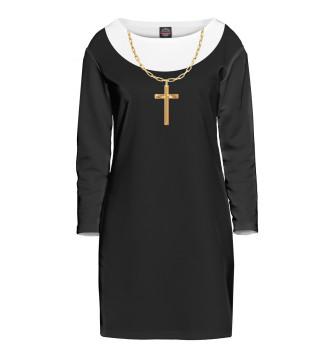 Женское Платье с рукавом Костюм Монашки