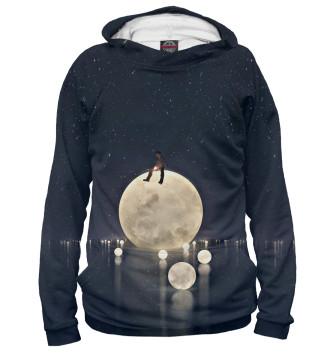 Мужское Худи Я на луне