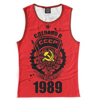 Женская Майка Сделано в СССР — 1989