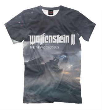 Мужская Футболка Wolfenstein 2 The New Colossus