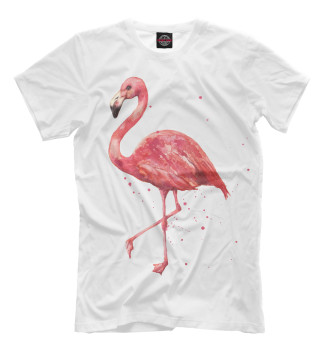 Мужская Футболка Розовый фламинго