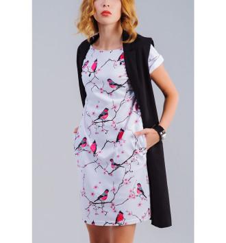 Женское Платье летнее Снегири