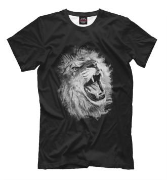 Мужская Футболка Лев Lion