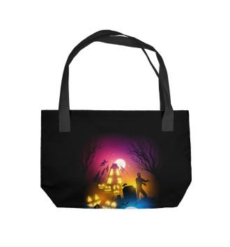 Пляжная сумка Счастливого хэллоуина