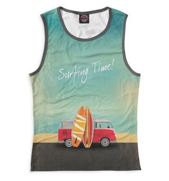 Женская Майка Surfing Time!
