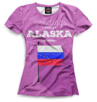 Женская Футболка Аляска