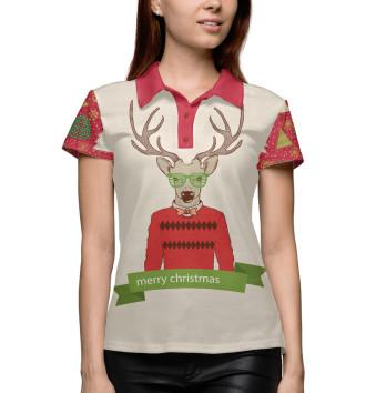Женское Поло Oh my Deer