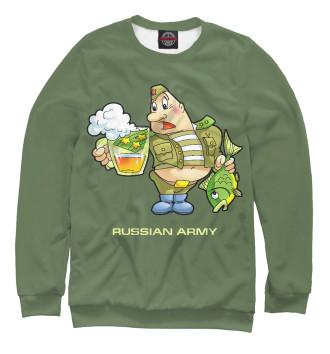 Женский Свитшот Армия России, настоящий полковник