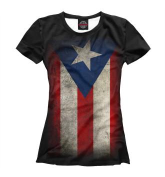 Женская Футболка Пуэрто-Рико