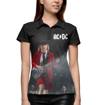 Женское Поло AC/DC