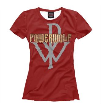 Женская Футболка Powerwolf