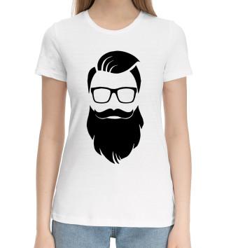 Женская Хлопковая футболка Санта Хипстер