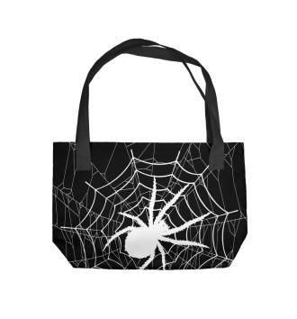 Пляжная сумка Паук в паутине