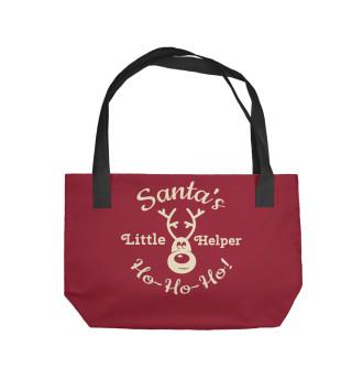 Пляжная сумка Новогодний олень