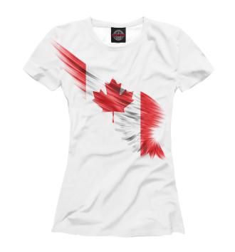 Женская Футболка Свободная Канада