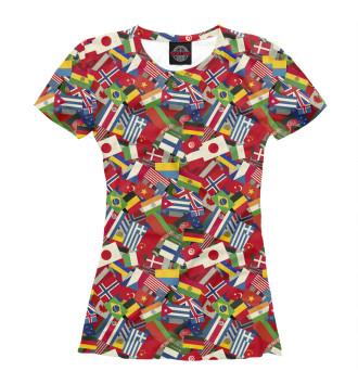 Женская Футболка Страны Мира
