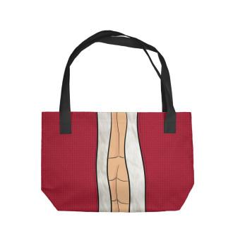 Пляжная сумка Дед Мороз