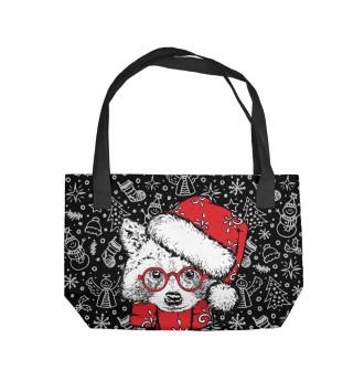 Пляжная сумка Енот Санта