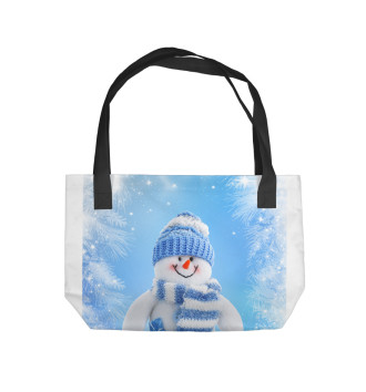 Пляжная сумка Снеговик