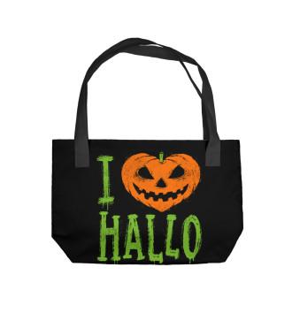 Пляжная сумка I Love Halloween