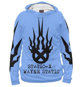 Мужское Худи Static-X | Wayne Static Blue