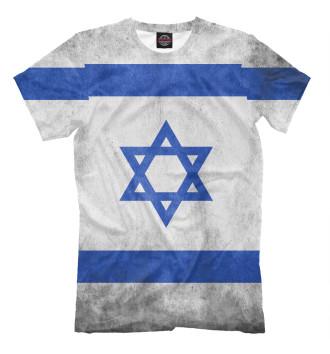 Мужская Футболка Флаг Израиля