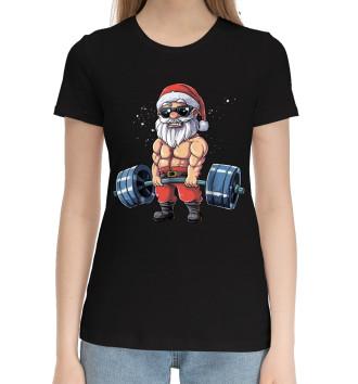Женская Хлопковая футболка Power Santa