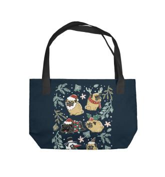 Пляжная сумка Мопсы