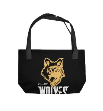 Пляжная сумка Волк