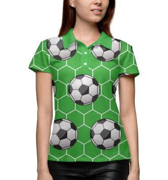 Женское Поло Футбольные мячи на зеленом фоне