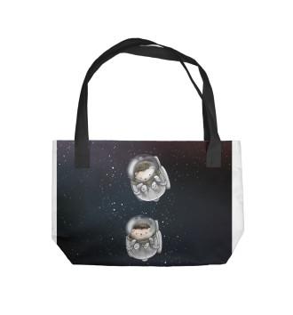 Пляжная сумка Ежи в космосе