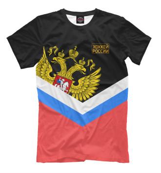 Мужская Футболка Хоккей России
