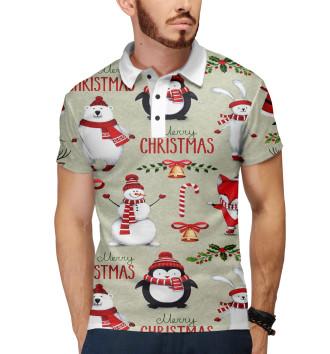 Мужское Поло Christmas